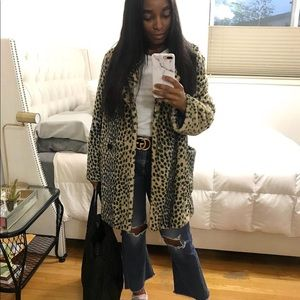 Forever 21 leopard coat